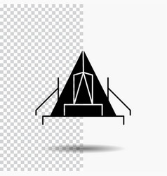 tent camping camp campsite outdoor glyph icon on vector image