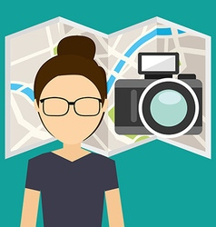 tourism concept design vector image