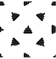turd pattern seamless black vector image