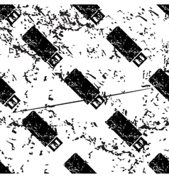 Usb stick pattern grunge monochrome vector