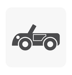 vehicle icon black vector image