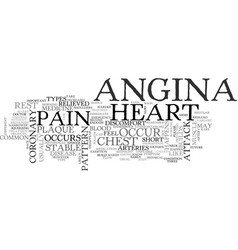 What is angina text word cloud concept vector