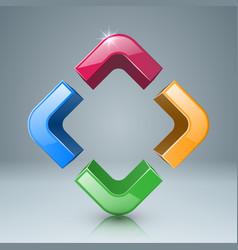 color four box glass icon vector image