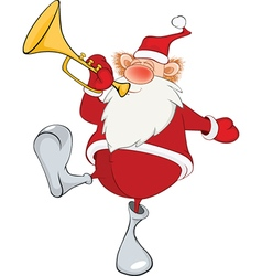 Cute Santa Claus Cartoon vector image vector image