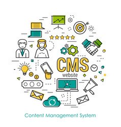 line art concept - cms vector image vector image
