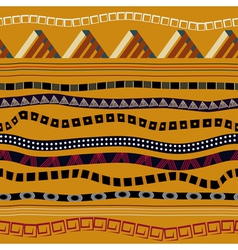 Seamless with ethnic patterns in tribal style vector image vector image