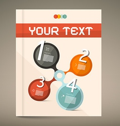 Brochure and Book Layout Cover vector image