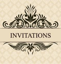 Invitations Border vector image vector image