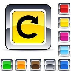 reload square button vector image vector image