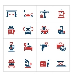 Set color icons of car service equipment vector image vector image