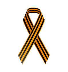 st george black and gold ribbon may 9 happy vector image vector image