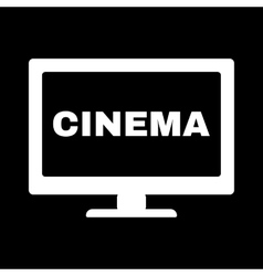 The cinema icon Television and tv movie film vector image vector image