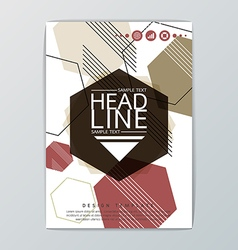 Abstract design Hexagon Geometric Brochure vector image