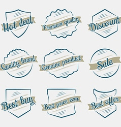 Design vintage elements business sign labels vector