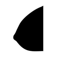 Female breast black color icon vector