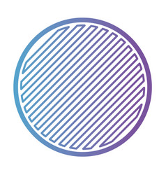 round emblem in color gradient silhouette from vector image