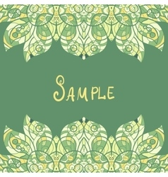 Card template for print design Ethnic paisley vector image
