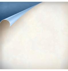 Old paper curled corner vintage background vector