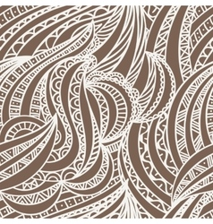 seamless hand-drawn pattern of contour vector image vector image