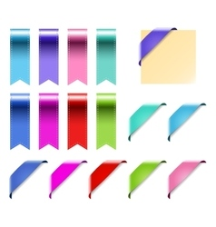 Web Ribbons Set With Gradient isolated on white vector image