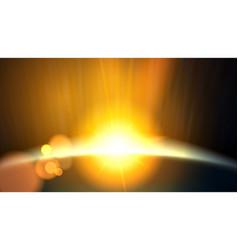 abstract planet beautiful sun rays light vector image