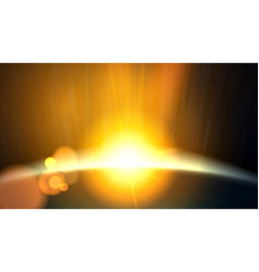 abstract planet beautiful sun rays of light vector image