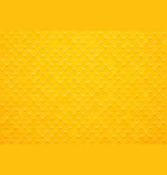 abstract yellow square tile background vector image