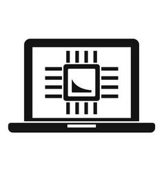 ai laptop processor icon simple style vector image