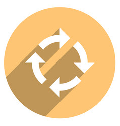 Arrow sign rotation icon circle button vector