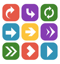 arrows button colourful paper signpost down up vector image