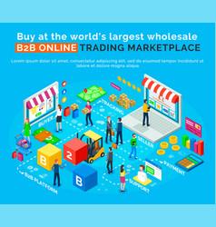 B2 online trading marketplace buy world platform vector