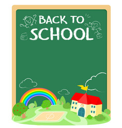 back to school poster design xaxa vector image