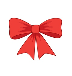 Beautiful red bow-knot vector