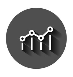 Benchmark measure icon in flat style dashboard vector