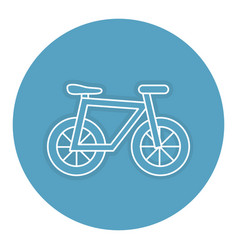 Bicycle vehicle isolated icon vector