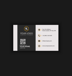 black and gold elegant business card vector image