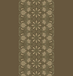 Brown pattern with pomegranates vector