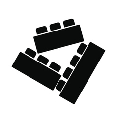 Building bricks black simple icon vector