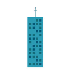 building urban skyscraper antenna vector image