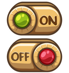 Button design for on and off vector