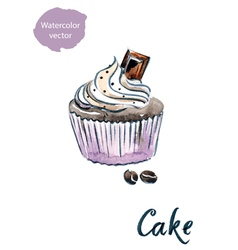 cake choco vector image