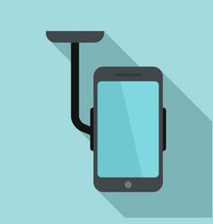 Car phone holder icon flat style vector