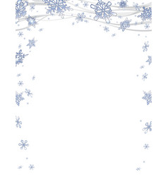 Christmas frame with frosty snowflakes vector