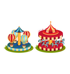 Circus attribute with horse whirlabout and merry vector