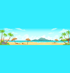 daytime beach landscape sandy beaches with vector image