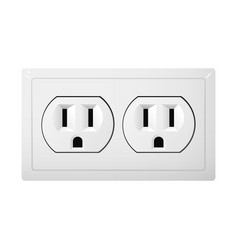 Dual electrical socket type b receptacle from vector