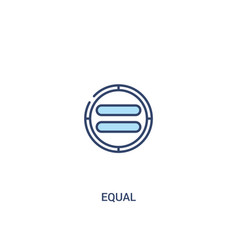 Equal concept 2 colored icon simple line element vector
