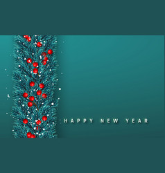 Festive new year background christmas garland vector