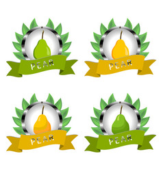 For ripe fruit colorful pear vector