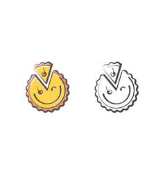 funny pie logo vector image